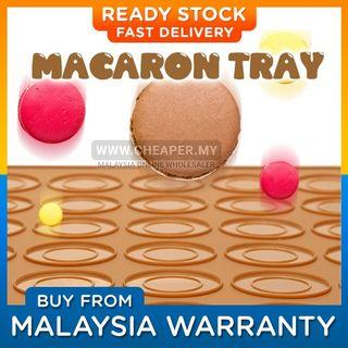 ⭐READY STOCK⭐Silicone 30 Macaroon Mat Mold Sheet Tray Mold Baking Pastry Oven Baking Pelapik Acuan Pad Hole Oven Baking
