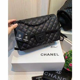 Tas Chanel Classic Black (Free Box Maghnet)