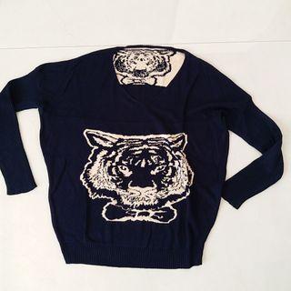 Tiger knit top