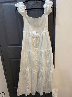 Boohoo UK Brand White Long Dress