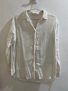 UNIQLO白色棉質襯衫