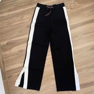 [ YISHION ] Celana slit hitam kulot