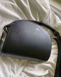 A.P.C. Mini Half Moon Bag Black