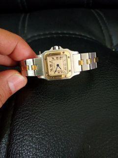 Cartier santos lady gold steel full original
