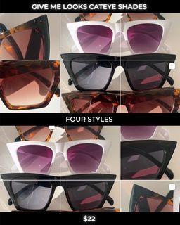 Cat eyed sunglasses