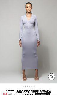 grey  midi dress