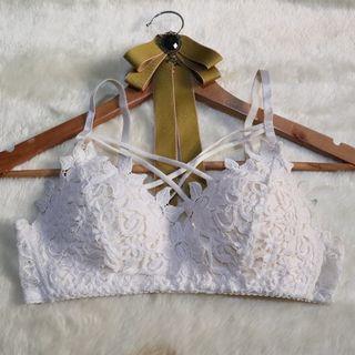 Pretty White Lace Bra