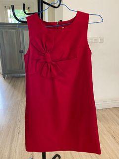 Salee Dress midi red premium