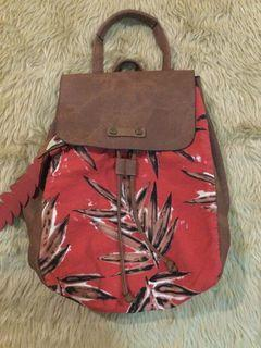 Tantrend… Printed and Brown Backpack ( with Flaws)