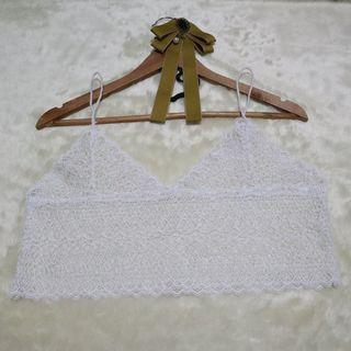 White Crop Top Cover