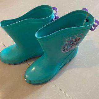 冰雪奇緣女童雨靴