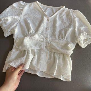 急放❗️白色韓系衫