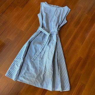 急放‼️淺藍間條長裙