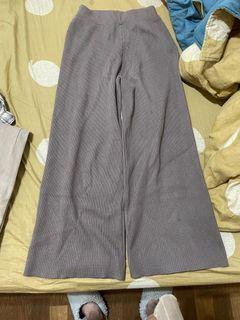 可可灰色針織褲