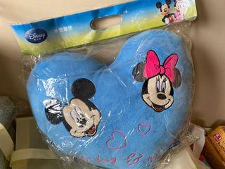 全新可愛米奇米妮心型抱枕  米老鼠愛心造型枕頭