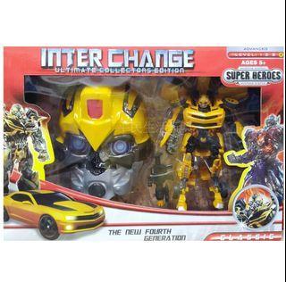 大黃蜂立體面具禮盒組 變形金剛 大黃蜂變形跑車+面具盒裝玩具 玩具 禮盒 生日禮物