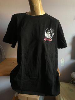 Baju Kaos Geisha Topeng hitam
