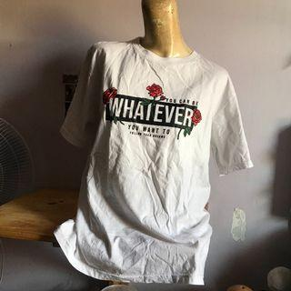 Baju Kaos Mawar Whatever hitam