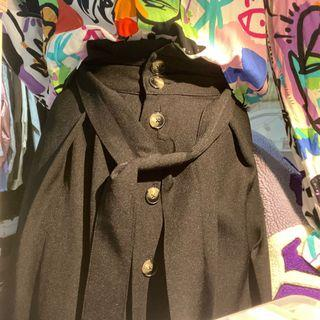 Bershka Black Midi Skirt