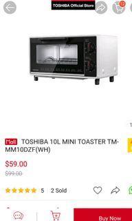 Brand new Toshiba 10L mini toaster wifh delivery