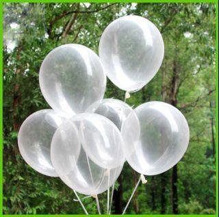 Clear Latex Balloons Happy Birthday Wedding Party Needs