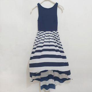 EVER NEW Waterfall Dress in Nautical Blue (US 0)