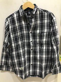 Flannel top baju kotak kotak hitam