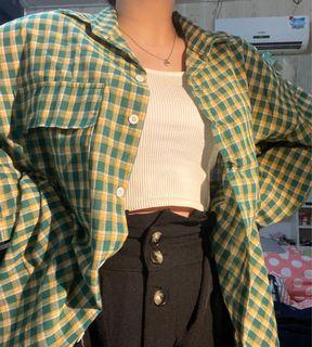 Green Flanel Tartan Shirt
