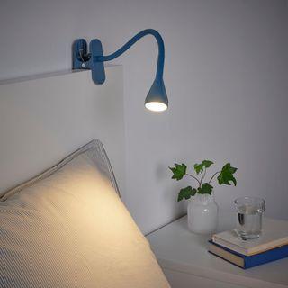 IKEA NÄVLINGE Led夾式聚光燈[深藍]
