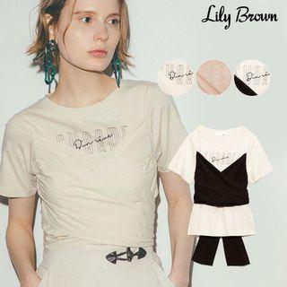 Lily brown 馬甲式綁帶上衣