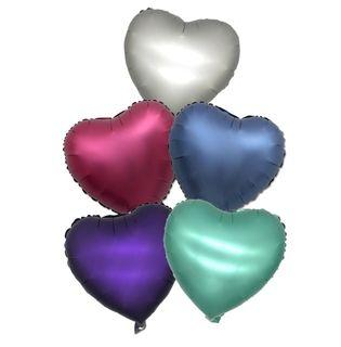 Matte Hearts Foil Balloons Happy Birthday Party Needs