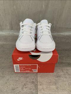 Nike Son of Air Force Boys Shoes Triple White (UK 10.5)