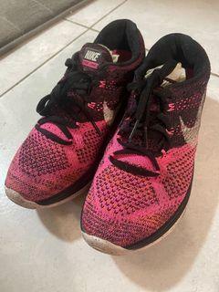 Nike 二手 flyknit lunar 3代 針織鞋面 輕量透氣 粉色 女生us8 25cm 無盒 no box