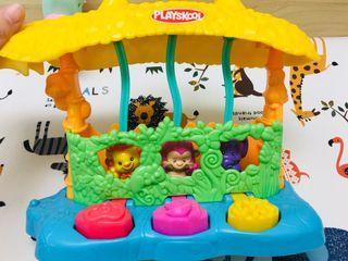 PLAYSKOOL 兒樂寶-彈跳動物+聲音玩具+拍打玩具/手眼協調/感覺統合玩具