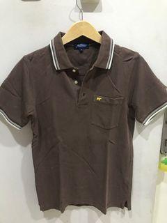 Polo shirt coklat