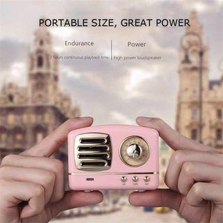 Retro Bluetooth Speaker Pink