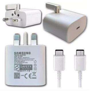 Samsung super fast charge 25w with USB type C to C cable