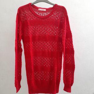 Sweater Merah Corniche FREE ONGKIR