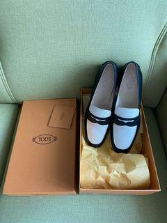 全新真品牛皮Tods 豆豆鞋38