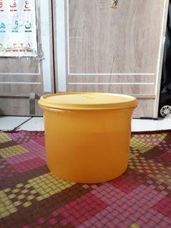 Toples bulat deco Canister Tupperware 3liter kuning #antibosan