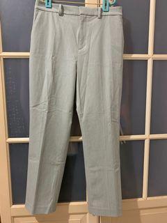 UNIQLO smart style 綠色夏季長褲L號