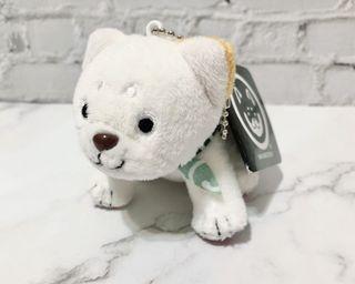 日本WANKODO 和んこ堂黑柴印白柴犬絨毛玩偶吊飾