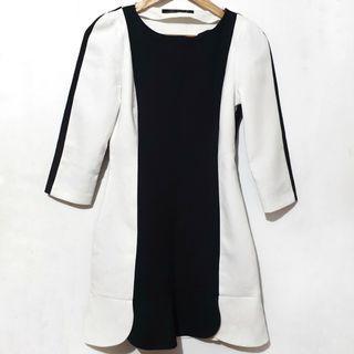 Zara contast b&w dress