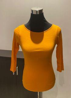 Zara Happy Yellow 3/4 Shirt Top