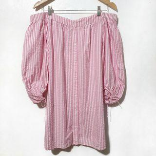 Zara tie offshoulder dress