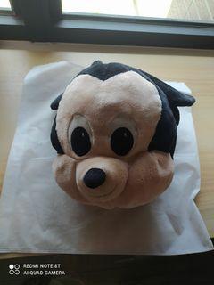 迪士尼 米奇靠墊暖手毯