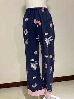 睡褲 天馬行空 獨角獸 可愛 造型 藍色 長褲  #支持