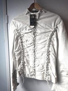 🆕️ White leather jacket BNWT