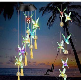Brand new Solar Hummingbird Wind Chimes Outdoor Decor