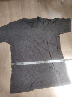 Gray V-neck fashion top